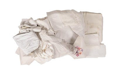 Lot 2017 - Assorted White Linen and Damask Table Linen,...