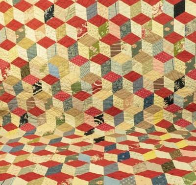 Lot 2019 - Late 19th Century Cotton Patchwork Quilt,...
