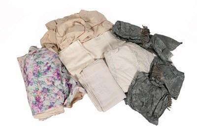 Lot 2020 - Assorted Textiles comprising a white cotton...