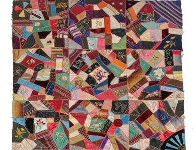 Lot 2022 - Late 19th Crazy Patchwork, incorporating...