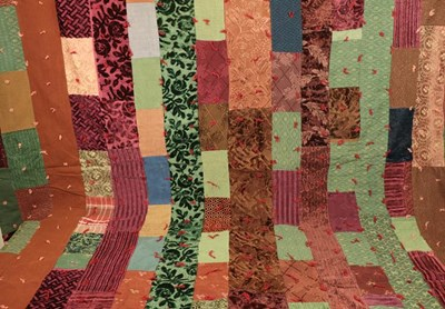 Lot 2023 - Early 20th Century Thrift Quilt, incorporating...