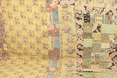 Lot 2028 - Mid 19th Century Patchwork Quilt, with a...