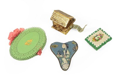 Lot 2030 - Assorted Sewing Accessories, comprising a gilt...
