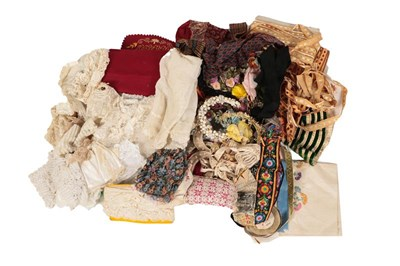 Lot 2033 - Assorted Lace and Costume Accessories,...