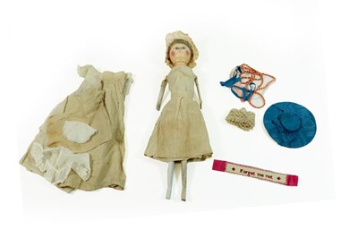 Lot 2003 - A Late 18th Century Queen Anne Type Doll, with...
