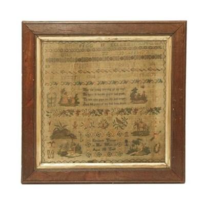 Lot 2056 - Alphabet Sampler Worked by Elizabeth Thorpe,...