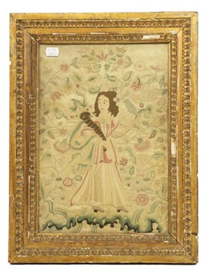 Lot 2060 - 18th Century Needle Work Embroidery of a Young...