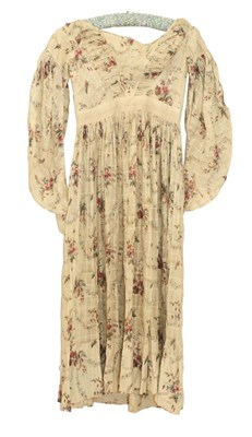 Lot 2061 - An Early 19th Century Printed Cotton Dress,...