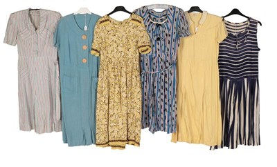 Lot 2074 - Circa 1920-30s Day Dresses, comprising pink,...
