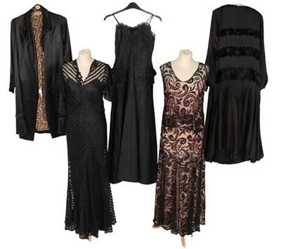 Lot 2077 - Circa 1920-30s Ladies' Clothing, comprising a...