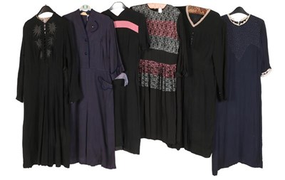 Lot 2078 - Circa 1930-40s Ladies' Clothing, comprising a...