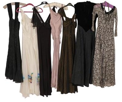 Lot 2080 - Circa 1930-40s Full Length Evening Dresses,...