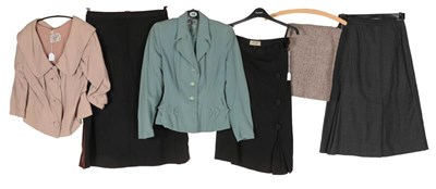 Lot 2082 - Circa 1940-50s Ladies' Jackets and Skirt,...