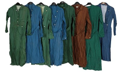 Lot 2083 - Circa 1940-50s Ladies' Cotton Work Robes and a...
