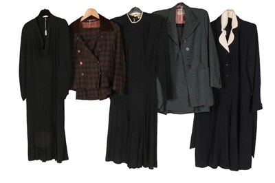 Lot 2086 - Assorted 1940s and Later Ladies' Day Wear,...