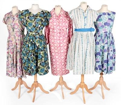 Lot 2092 - Circa 1950s Cotton Printed Day Dresses,...