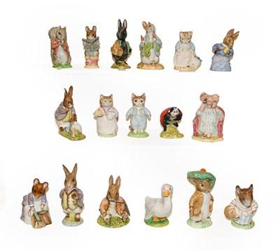 Lot 19 - Seventeen Beatrix Potter figures, Beswick and...