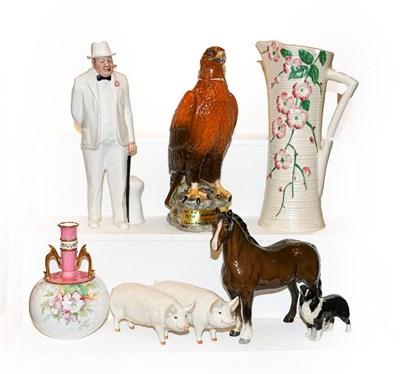 Lot 21 - A tray of ceramics including a Beswick Golden...