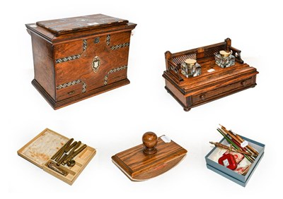 Lot 22 - A 19th century rosewood correspondence box...