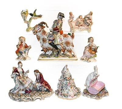 Lot 25 - A quantity of Continental porcelain figures,...
