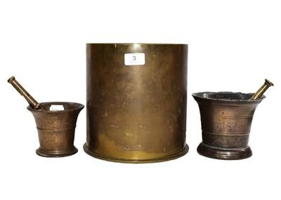 Lot 3 - A First World War German large brass shell...