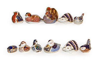 Lot 30 - Eleven Royal Crown Derby Imari paperweights...