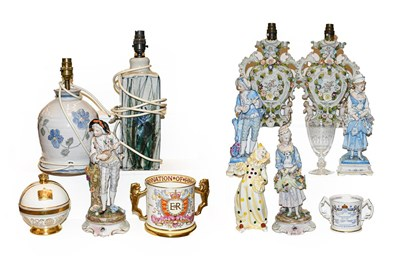 Lot 35 - A collection of European decorative figures...
