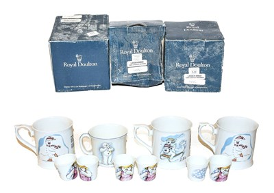 Lot 39 - A collection of Snowman items by Royal Doulton...