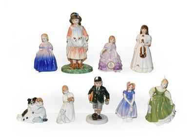 Lot 4 - A selection of nine Royal Doulton figures...