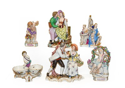 Lot 41 - A collection of 19th century German porcelain...