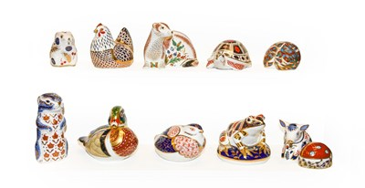 Lot 44 - Eleven Royal Crown Derby Imari paperweights...