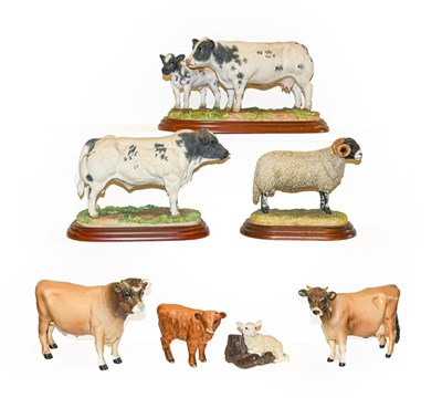 Lot 50 - Beswick Jersey bull and cow, together with...