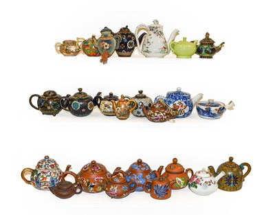 Lot 58 - A collection of Chinese and Japanese miniature...