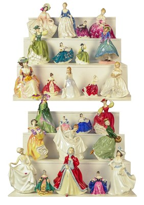 Lot 64 - Two trays of Royal Doulton figures, to include...