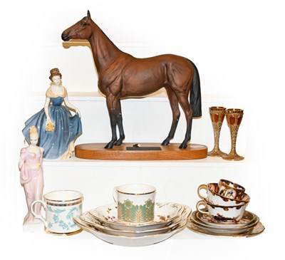 Lot 7 - A Beswick horse titled 'Red Rum' (a.f.), Royal...