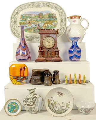 Lot 73 - Assorted items including oak cased Junghams...
