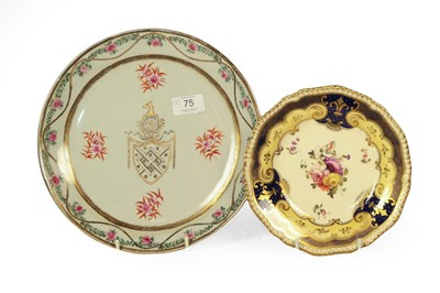 Lot 75 - A Chinese style Armorial dish, early 20th...