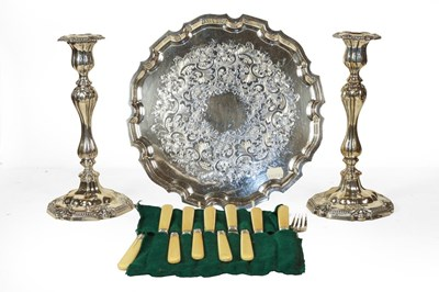 Lot 79 - A collection of assorted silver plate,...