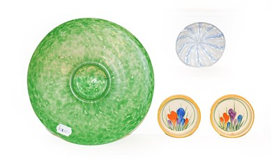 Lot 8 - A pair of Clarice Cliff crocus pattern dishes...
