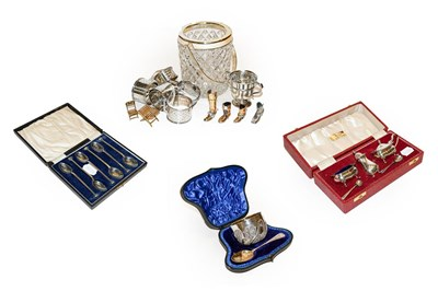 Lot 9 - A selection of silver and silver plated items,...