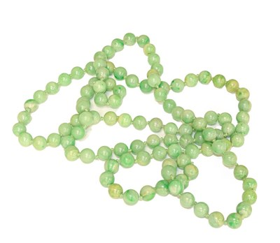Lot 92 - A jade bead necklace, one hundred and eight...