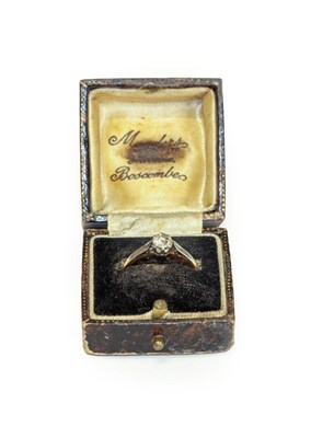 Lot 94 - A diamond solitaire ring, stamped '18CT' and...