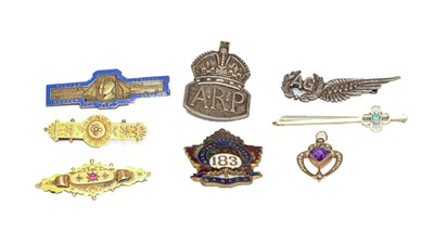 Lot 95 - Two 9 carat gold brooches (a.f.), an Edwardian...