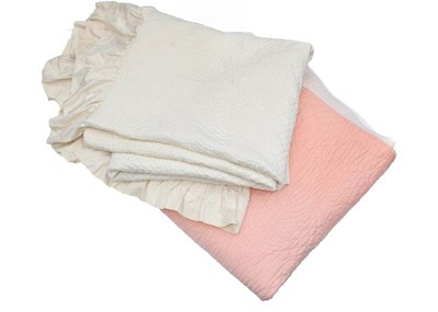 Lot 1032 - A late 19th century whole cloth cream cotton...