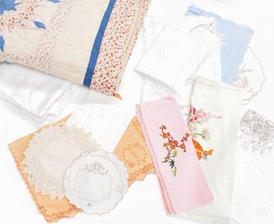 Lot 1035 - A modern patchwork quilt, a white cotton...