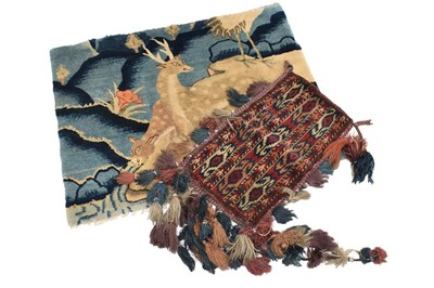 Lot 1040 - Early 20th century red and blue wool panel...