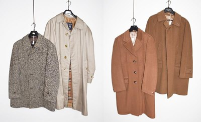 Lot 1075 - Burberry mac with wool detachable lining,...