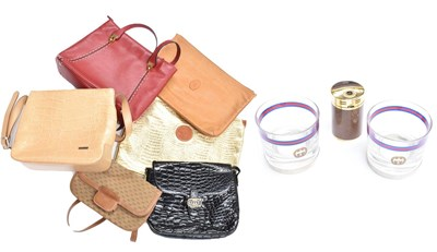 Lot 1076 - Assorted modern leather handbags comprising,...