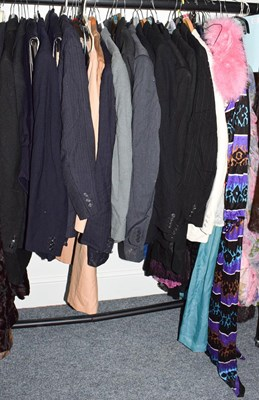 Lot 1081 - Assorted gents costume, ladies dresses, pink...