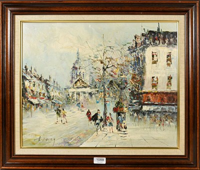 Lot 1088 - R Davey (Contemporary) Town view, signed, oil...